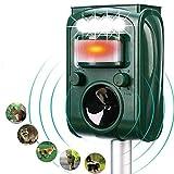 FAYINWBO Dog Cat Animal Repeller, Outdoor Solar Ultrasonic Animal Repeller with Motion Sensor and Flash Intimidation Raccoon, Rabbit, Squirrel, Fox, Birds, Skunks, etc Protect The Farm Garden Yard