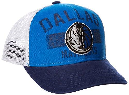 fan products of NBA Dallas Mavericks Men's Downtown Trucker Meshback Hat, Blue, One Size