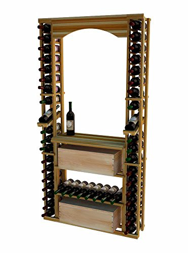 Wine Cellar Innovations TR-UN-ARCHCASEDSKIT-A3 Traditional Series Tasting Center Bundle Archway, Table top, Individuals and Wood Case Wine Rack, Premium Redwood, Unstained