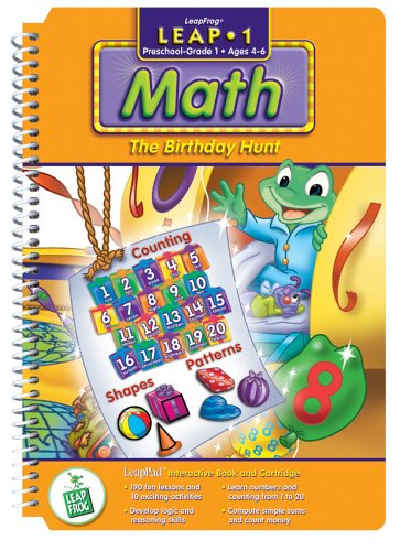 LeapPad: Leap 1 Math - ''Birthday Hunt'' Interactive Book and Cartridge