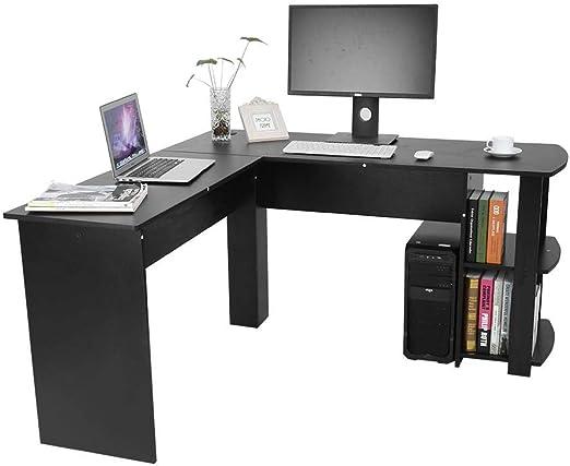 SOULONG - Mesa de Escritorio para Ordenador, en Forma de L, Mesa ...