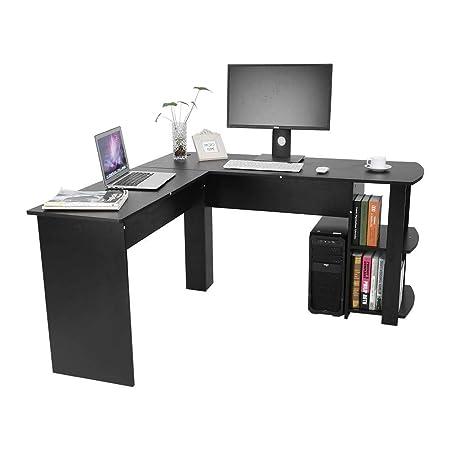 Zerone - Mesa de Escritorio con Forma de L, Mesa para Oficina de ...