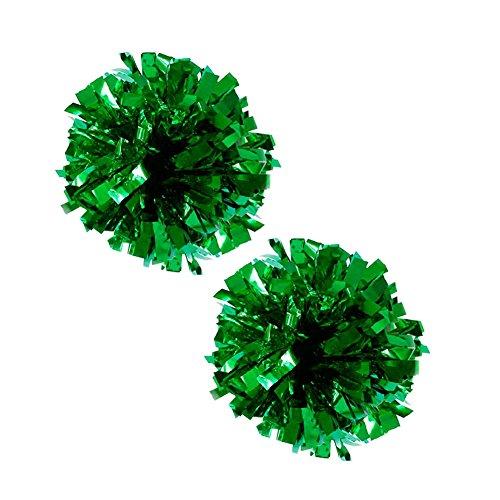 Metallic 100g de Vert Cheerleading 2 Lot plastique Pom Anneau Poms ZYHcqy8c