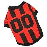 Naladoo Fashion Pet Dog Sport Football Vest Jersey Clothes Comfortable Costume