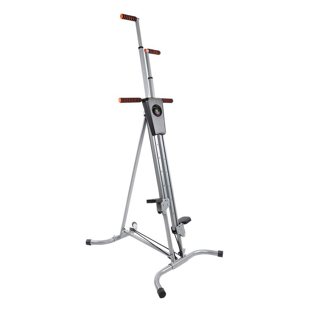 Zerone Home Climber, Heavy Duty Steel Frame Vertical Fitness Climber Machine Folding Cardio Exercise Climbing Machine for Gym Home Stepper Climber