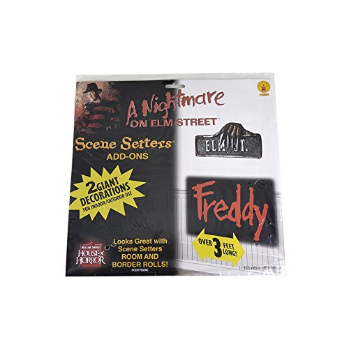 [A Nightmare on Elm Street Freddy Add-On Signs] (Horror Costumes For Kids)