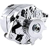 New High Output 100 AMP Alternator Chrome 1 or 3 Wire, Self Exciting Replacement For GM Chevy 10 SI 10SI DELCO BBC SBC 1965-1