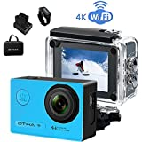 Action Camera,4K 16MP Sony Sensor WiFi Sports Camcorder Ultra HD Underwater Waterproof 98FT(30M) Video Cam,Remote Control/2 Rechargeable Batteries/Mounting Accessories Kit