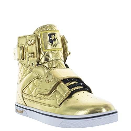 VLADO Footwear Men's Atlas Metallic Gold High Top Sneaker US 7.5