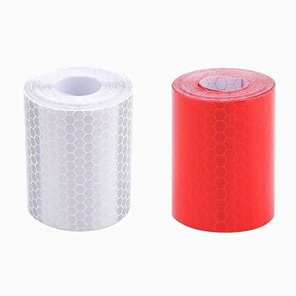 Rojo Blanco Honeycomb bandas reflectantes impermeable auto-remolque cinta reflectante cinta reflectante para remolques de camiones alarma de coche ...
