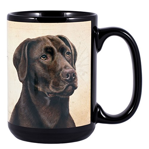 Chocolate Lab Dog Breed Traits Ceramic Stoneware 15 Ounce - Mug Lab Chocolate