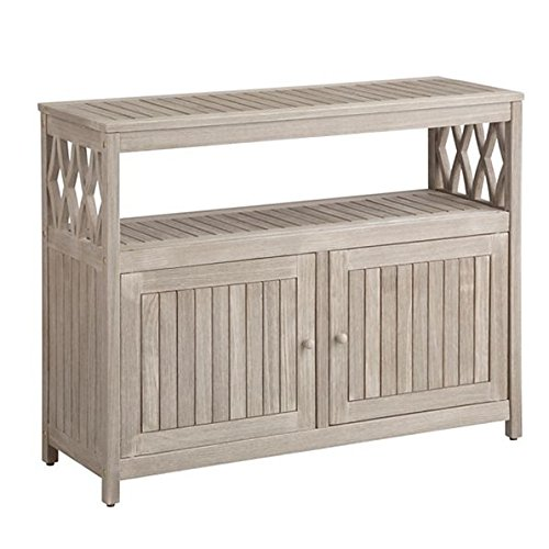- Home Improvements Gray Wash Finish Tropical Hard Wood Outdoor Patio Buffet Storage Cabinet Console Patio Bar Cabinet Outdoor Living Furniture