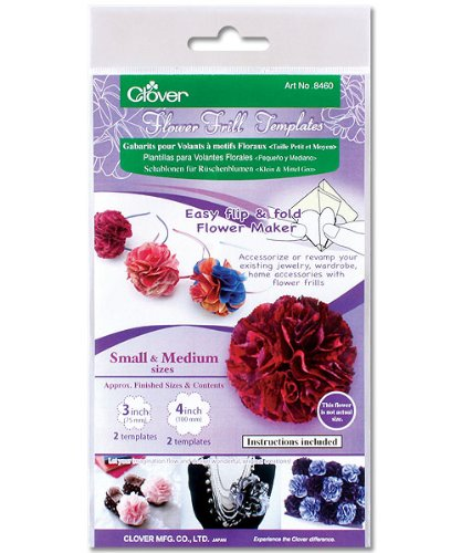 - Clover Small and Medium Flower Frill Templates (8460)