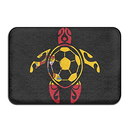 Youbah-01 Indoor/Outdoor Area Rug Floor Mat with Spain Flag Soccer Sea Turtle Graphic for Front Porch by Youbah-01