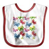 MGDBB Baby Boys Girls Burp Cloths Brand New Watercolor Butterfly Teething Bibs