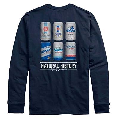 Discount Natural Light Natty Natural History Long Sleeve Navy TShirt