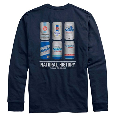 Natty Light - Natural Light Natty Natural History Long Sleeve Navy TShirt Medium