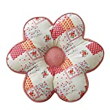 Floral-shaped Padded Chair Cushion Pad Stuffed Backrest Throw Pillow Doll Play Toy LivebyCare Filled Reading Seat Back Cushions Insert Filling for Living Room Sofa Couch