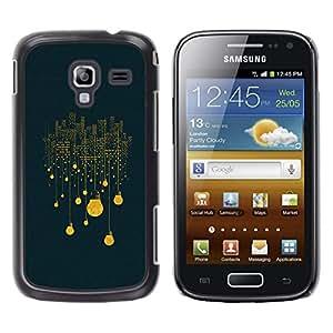 TopCaseStore / la caja del caucho duro de la cubierta de protección de la piel - City Lights Light Bulb Electricity Night Big - Samsung Galaxy Ace 2 I8160 Ace II X S7560M
