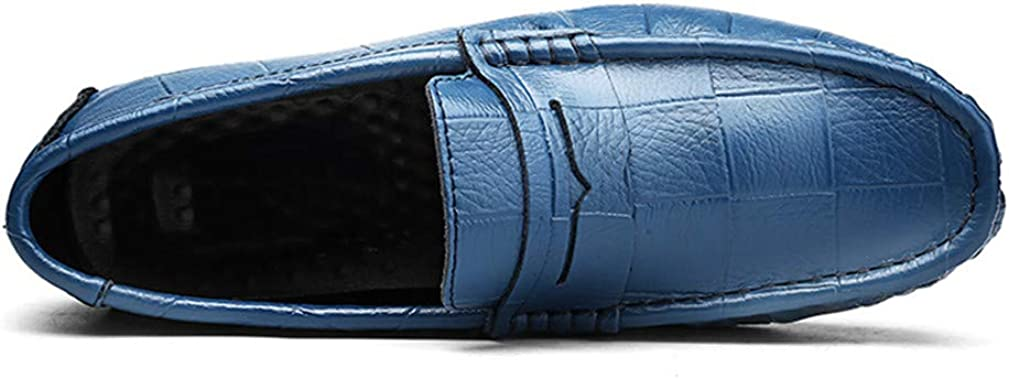 Leather Man Designer Slip On Driving Shoes Men Luxury Soft Loafers Large Size 38~47