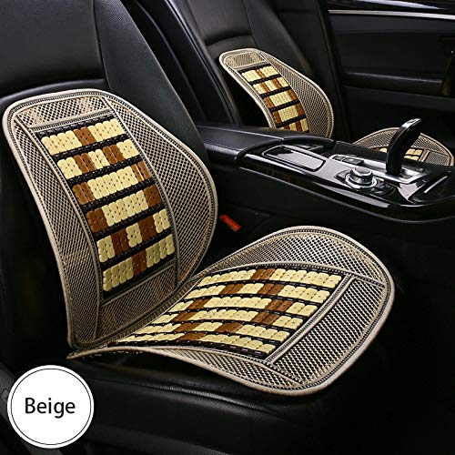 DLH Car Seat Cushion, Bamboo Seat Cushion - Breathable Back Cushion - Car Seat Belt Waist Pad - Car Seat ()