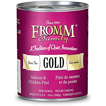 Fromm Gold Salmon Chicken Can Dog Food Case 13 Oz 12
