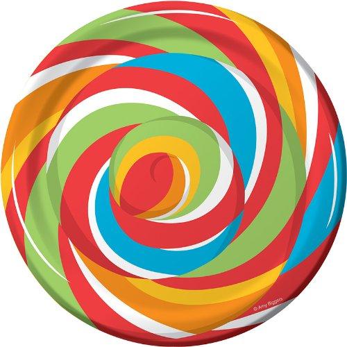 8-Count Round Paper Dessert Plates, Sugar Buzz -