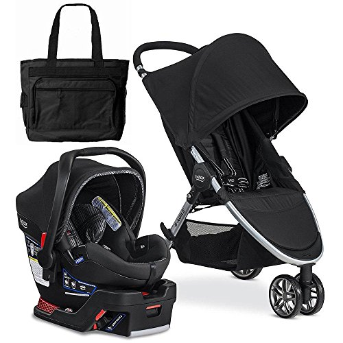 Britax 2017 B-Agile 3/B-Safe 35 Elite Travel System with Diaper Bag – Domino