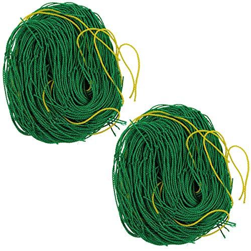Elaiko Climbing Plant Netting Nylon Trellis net Support Vegetables Flower Vine Trellis Net Green (5.9 x 11.8Ft)