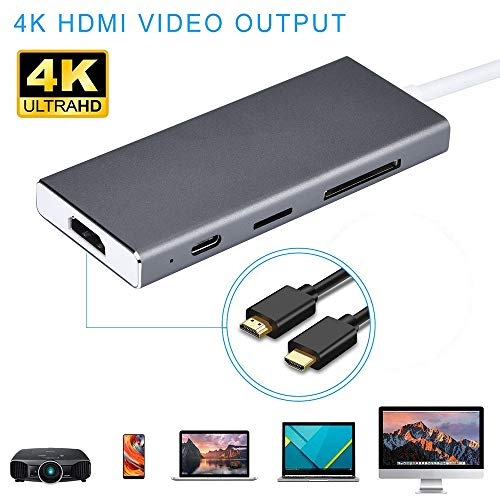 Little Story  Type-C HUB, USB C Hub Type-C Adapter 7 in 1 USB-C Dock with 4K HDMI Output PD -