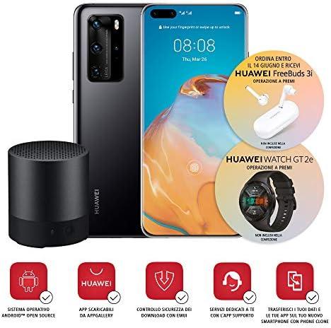 """Huawei P40 Pro con Bluetooth Speaker, Acoustic Display da 6.58"""", Quattro Fotocamere Leica da 50 + 40 + 12 MP e Sensore TOF, Kirin 990 5G Octa Core, Nero, Versione Italiana"""