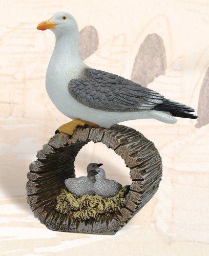 Nautical Seagull w/ Bird Nest Decoration: Amazon ca: Home