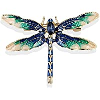 TOOGOO Dragonfly Brooches for Women Green Enamel Insect Dragonfly Brooch Men Suit Dress Pin and Brooches