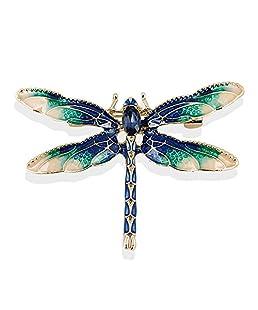 TOOGOO Broches de libelula para Mujer Broche de libelula Insecto del Esmalte Verde Pin y broches de Vestir Traje para Hombre