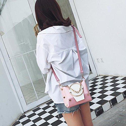 Casa Creativo Rosa Moda Telefono Liu Catena Rosa Pacchetto Colore colore Diagonale · A Yu Borsa Tracolla Personalità Crossbody 04nqwTX8qz