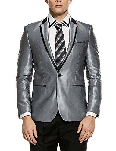 (COOFANDY Men's Floral Party Dress Suit Luxury Embroidered Wedding Blazer Dinner Tuxedo Jacket)