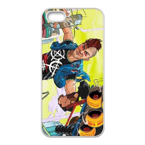 Sunset Overdrive 3 coque iPhone 5 5s cellulaire cas coque de téléphone cas blanche couverture de téléphone portable EEECBCAAN05954
