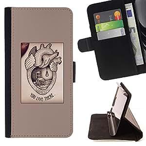 Momo Phone Case / Flip Funda de Cuero Case Cover - Texte Valentine Love - Samsung Galaxy S4 IV I9500