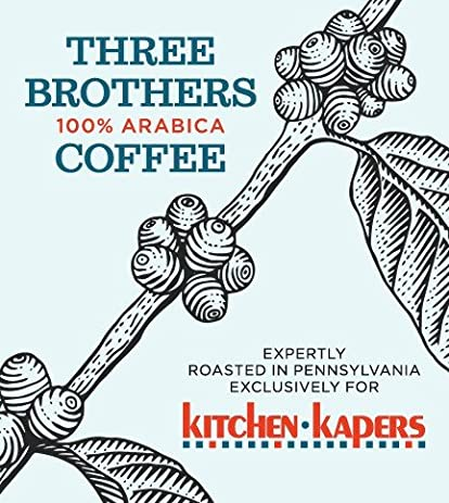 1 Lb Three Brothers Decaf Kitchen Kapers House Blend Coffee Beans