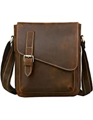 Jack&Chris Handmade Mens Leather Messenger Bag Shoulder Bag Ipad Bag, NM1866