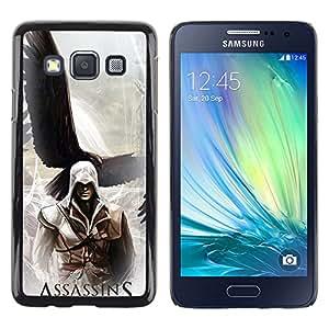 EJOY---Cubierta de la caja de protección la piel dura para el / Samsung Galaxy A3 / --Asesinos Águila