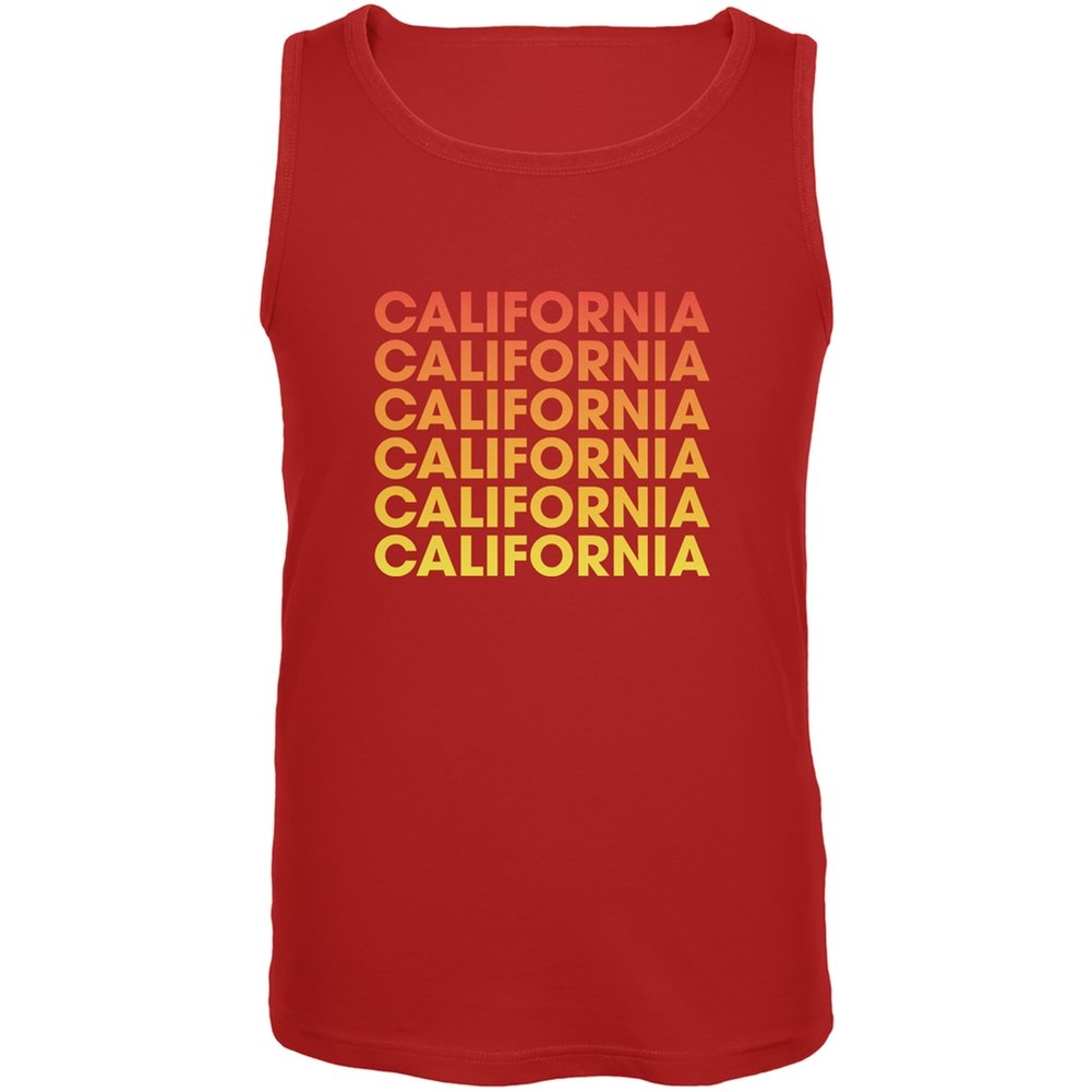 Old Glory California Repeating Gradient Red Adult Tank Top