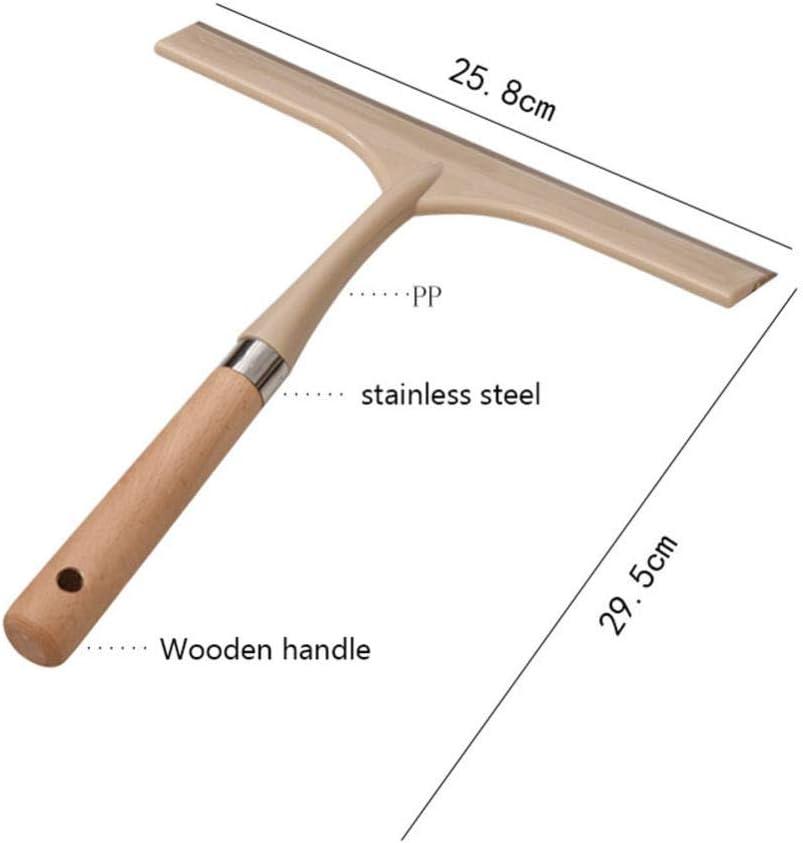 Shower Squeegees,Shower Wiper Silicone Shower Squeegee Window Squeegees Rubber Blade Wooden Wiper,30cm