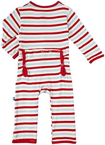 Kickee Pants Print Coveralls (Baby) - Balloon Stripe-6-12 Months