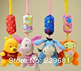 NEW Lovely Musical Baby Lathe Accessories 4pcs Cartoon Characters Wind chimes Soft Plush Toys Early development Baby Toys
