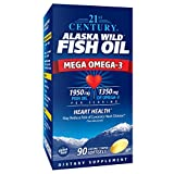 21st Century Alaska Wild Fish Oil Softgels, 90 Count