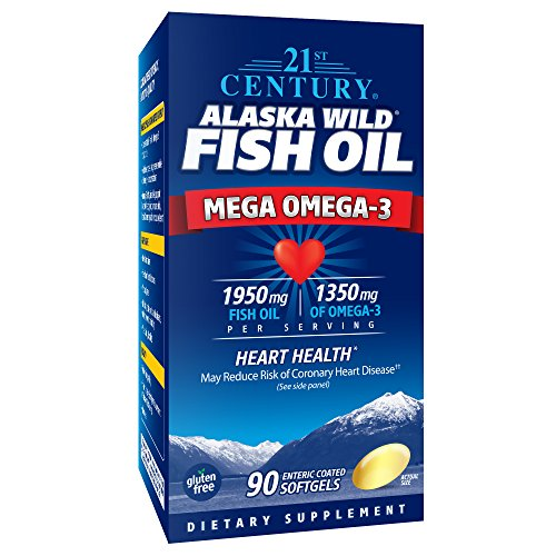 21st Century Alaska Wild Fish Oil Softgels, 90 Count