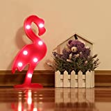 Jefferson Flamingo Lamp Decor Battery Operated Rose Flamingo Marquee LED Nightlight 7 LEDs Home Decoration LED Marquee Sign LED for Kids Baby Bedroom Gift Party Home Decorations (Rose, Flamingo) Review