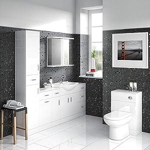Premier prc142 500 mm D330 high gloss mayford toilet unit – White