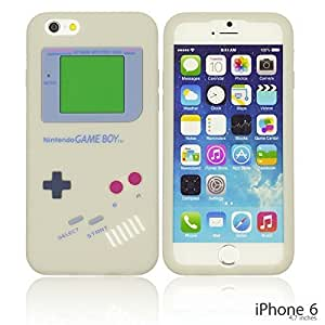 OnlineBestDigital - Gameboy Style Silicone Case for Apple iPhone 6 (4.7 inch)Smartphone - Grey with 3 Screen Protectors